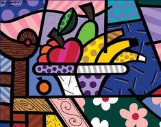 Limited Edition Fine Art Print by the Brazilian Artist Romero Britto - Paris Art Web Paris Kunst, Paris Art, Arte Pop, Decoupage, Modern Pop Art, Art Web, Graffiti Painting, Stone Art, Contemporary Paintings