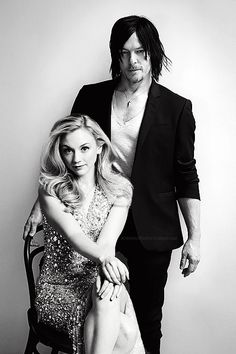 Norman Reedus and Emily Kinney ... So beautiful together!