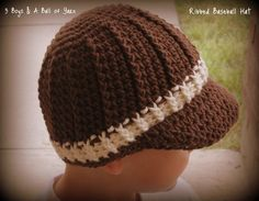 Crochet Hat / Ribbed / Cabled / Baseball / Cap / 5 Sizes /  3 Boys & A Ball of Yarn on Etsy, 3,04€