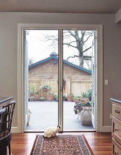 Retractable Screen Door - for Double Door fits up to tall (Custom Built) Double Screen Doors, Retractable Screen Door, Sea Ranch, Window Hardware, Steel Doors, Better Homes And Gardens, House Plans, Home And Garden, House Design