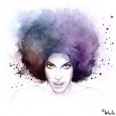 Blule+-+Purple+Smile+-+Commissioned+illustration+of+Prince