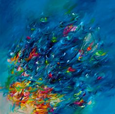 "Saatchi Online Artist: Victoria Horkan; Oil, Painting ""Below the surface"""