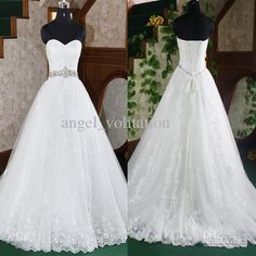 Wholesale Ball Gown Wedding Dresses - Buy Sexy Style Organza Sweetheart Ball Gown Applique Lace Up Wedding Dresses Bridal Dress A Line Wedding Dresses Buy 1 Get Free BraceletGA1080, $159.0 | DHgate