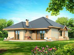 Projekat moderne prizemne kuće s garažom – Verona