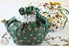 Quilted Drawstring Tea Cozy