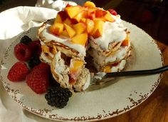 peaches and cream protein pancakes