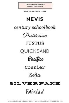 Deluxemodern Design   Font Resources