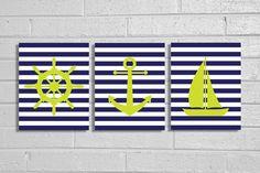 Nautical Nursery Print Set on Etsy