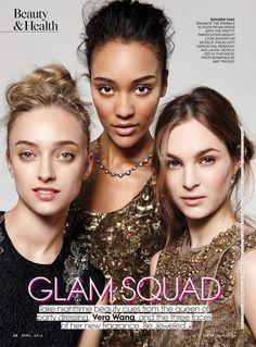 Glam Squad (Teen Vogue) Photography Women, Beauty Photography, Vera Wang Dress, Model Look, Rocker Chic, Teen Vogue, Simple Makeup, Fashion Shoot, Hair Beauty