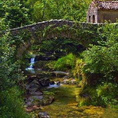 thevoyaging:  Ancient Stone Bridge, Asturias, Spain photo via hope