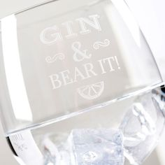 Our stunning Premium Gin Glass can be personalised for someone special! You can add any message to be engraved along with 'Gin &'.