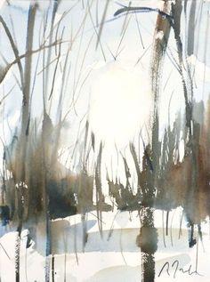 New England Winter-Scape No.37 original by WaterWorksbySumiyo