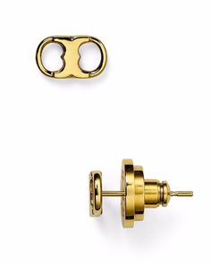 Authentic Tory Burch Gemini Link Stud Earrings #ToryBurch #Stud