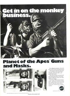 Planet of the Apes Gear ad (Mattel, c.1974)