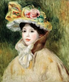Pierre-Auguste Renoir (Limoges, 1841 - Cagnes-sur-Mer, 1919) Woman with Capeline (early 1890's) Filadelfia/Philadelphia (The Barnes Foundation)