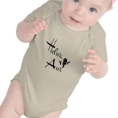 "Helwa Awi: An Arabic phrase which means ""Very Beautiful"" or ""Very Sweet.""  It can be used to describe a person, place, object, etc... (Middle Eastern Arabic Designs - Baby Clothing)"
