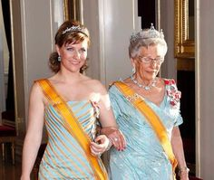 Princess Astrid of Norway and her niece Princess Martha Louise of Norway