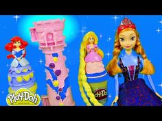 FROZEN Transforming Snow Sleigh Princess Anna and Olaf Play Doh Disney Toys Review by DCTC - YouTube