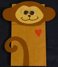 Monkey Paper Bag Puppet - Storytime Craft?