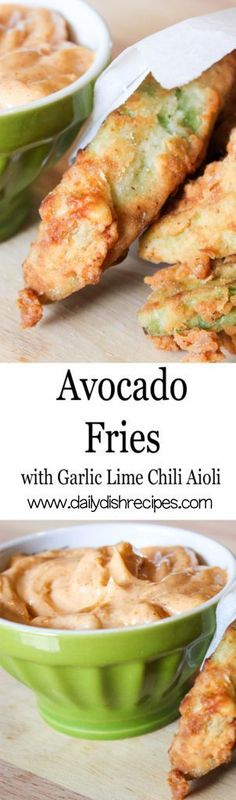 Avocado Fries Recipe with Garlic Chili Lime Aioli