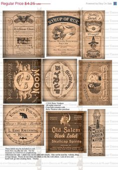 8 Best Images of Witches Potion Labels Free Printable - Free Printable Potion Bottle Labels, Witch Potion Bottle Labels and Halloween Potion Bottle Label Retro Halloween, Halloween Labels, Halloween Party Favors, Holidays Halloween, Halloween Crafts, Halloween Decorations, Halloween Clothes, Costume Halloween, Happy Halloween