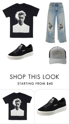 """✖️👦🏼✖️"" by makemelove ❤ liked on Polyvore featuring Puma and R13"