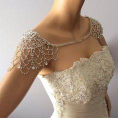 Wedding Shoulder Necklace, Shoulder Jewelry, Wedding Dress for Shoulder, Bridal Shoulder Necklace, B #weddingshoes