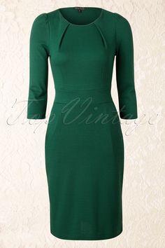 King Louie - 50s Mona Dress 3/4 in Green
