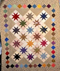 Q-Long-Legged Stars by Linda Rotz Miller Quilts & Quilt Tops, via Flickr