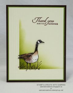 handmade greeting card from Stamp & Create With Sabrina: Wetlands 7 .. Canadian goose ... Stampin' Up!