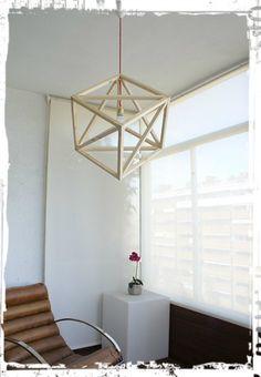 WOOD GEOMETRIC LAMP