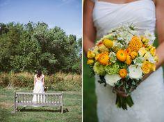 Yellow and green wedding bouquet Arrow & Apple - Arrow & Apple - Editorial and Wedding Photography - Mikey + Ashley | Arlington, Virginia | WeddingPhotographers