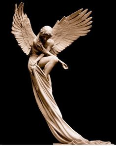 Sculpture by Benjamin Victor - architecture and art - - Statue Ange, Arte Fashion, Desenho Tattoo, Art Sculpture, Bronze Sculpture, Classical Art, Angel Art, Renaissance Art, Aesthetic Art