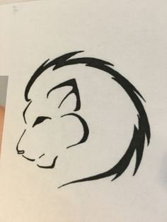 Lion outline tattoo idea More