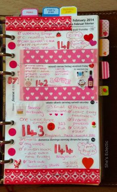 She's Eclectic: My week in my Filofax #7 - close up