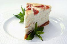 Rhubarb Swirl Cheesecake (gluten-free)
