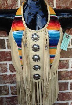 """Cactus Skully"" Beaded Ladies Leather Halter"