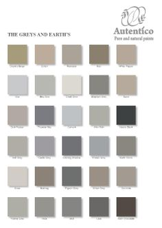 colours of the chalk paint for the fireplace. Stockist