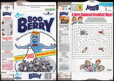General Mills - Boo Berry - delcious ghost marshmallows - cereal box - 1993 by JasonLiebig, via Flickr