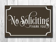No Soliciting Sign Classic style Aluminum by ClassicMetalSigns
