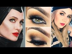 Maquiagem inspirada na Malévola Angelina Jolie - Maleficent Makeup - YouTube