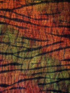 Constance Rose  Autumn Wood - shibori over colour dyeing