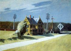 Edward Hopper Railroad Crossing   c. 1922-1923. Oil on canvas. 73,7 x 101 cm. Whitney Museum of American Art, New York.