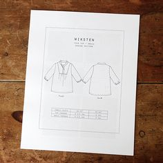 Wiksten Tova Sewing Pattern Downloadable PDF   WIKSTEN