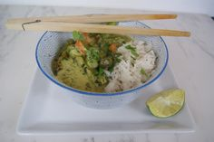 Curry Vert, Guacamole, Grains, Rice, Vegan, Ethnic Recipes, Food, Coriander Leaves, Lime Juice