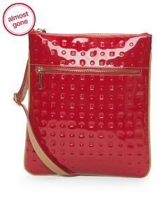 Made In Italy Patent Leather North South Crossbody
