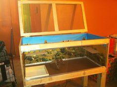 Open Top Reptile Enclosure DIY Homemade Custom #beardeddragon #viv