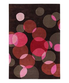Take a look at this Pink & Brown Avalisa Wool Rug by Chandra on #zulily today!