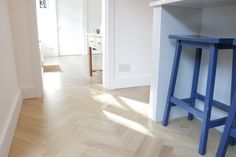 European Oak Herringbone for a Kitchen & Boot Room in Cambridge. The Engineered Oak Herringbone blocks were lacquered with Pallmann Pall-X Pure Lacquer Herringbone, Cambridge, Tile Floor, Flooring, Pure Products, Boots, Kitchen, Crotch Boots, Cooking