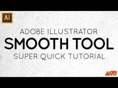 Adobe Illustrator Smooth Tool Tutorial - YouTube